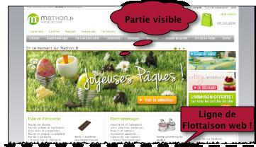 ligne de flottaison page web e-commerce 2012 pixels